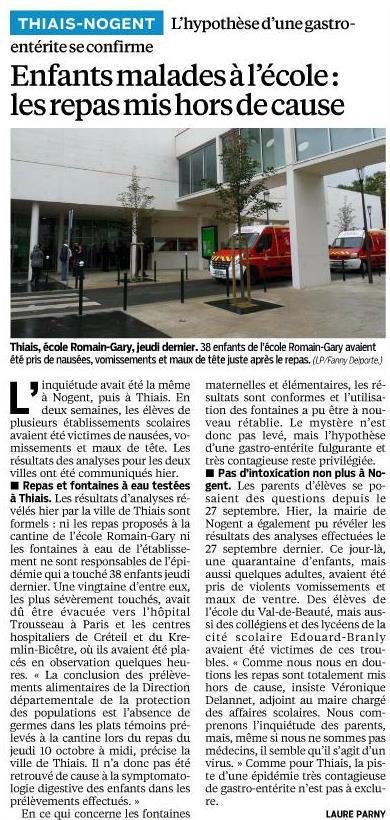Article Le Parisien 18-10-2013